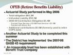 opeb retiree benefits liability