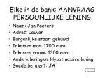 elke in de bank aanvraag persoonlijke lening