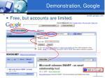 demonstration google