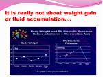 it is really not about weight gain or fluid accumulation