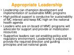 appropriate leadership