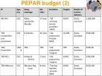 pepar budget 2