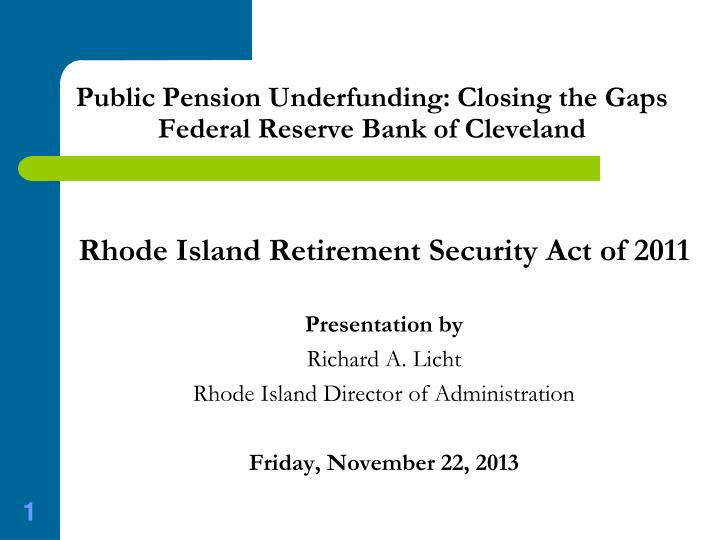 public pension underfunding closing the gaps federal reserve bank of cleveland n.