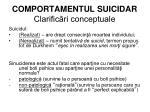 comportamentul suicidar clarific ri conceptuale