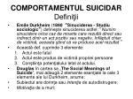 comportamentul suicidar defini ii
