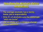 how does the alcoholic define alcoholism