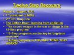 twelve step recovery