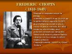 frederic chopin 1810 1849