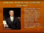 johann wolfgang goethe 1749 1832