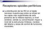receptores opioides perif ricos