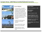 lexington farms leed platinum certified residential community