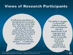 views of research participants