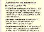 organizations and information systems continued