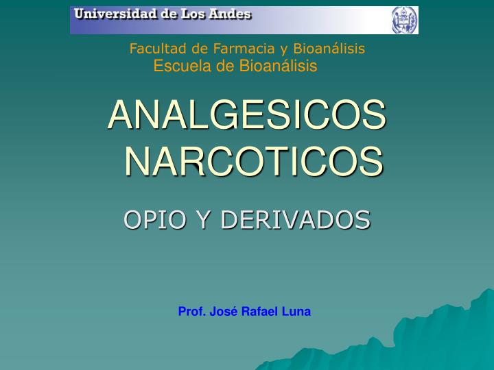 analgesicos narcoticos n.