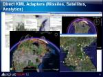 direct kml adapters missiles satellites analytics