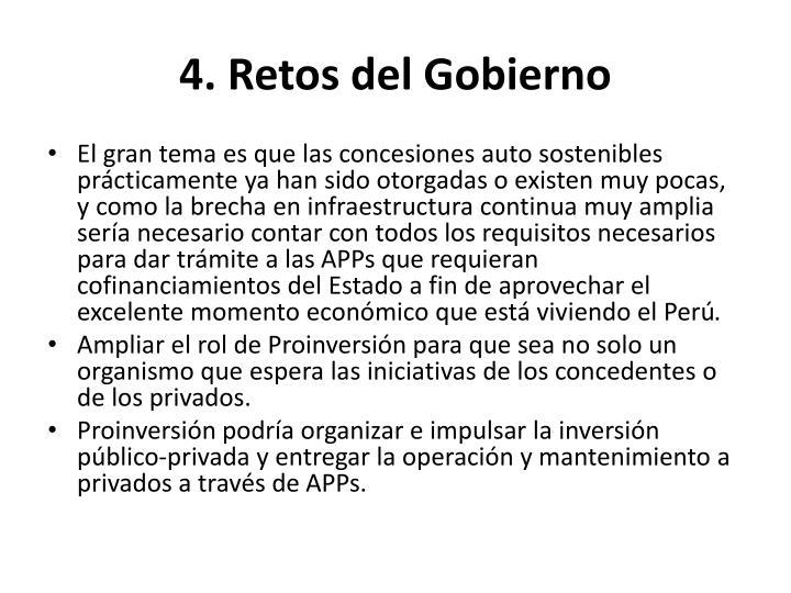 4. Retos del Gobierno