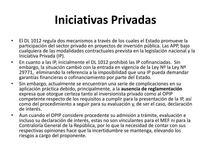 Iniciativas Privadas