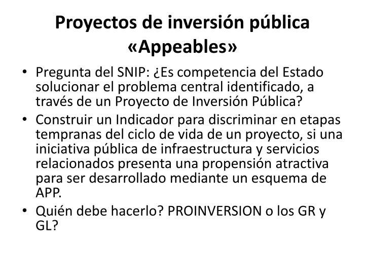 Proyectos de inversión pública «