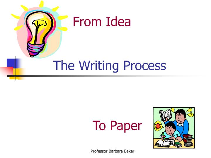 the writing process n.