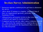 in class survey administration