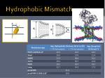 hydrophobic mismatch