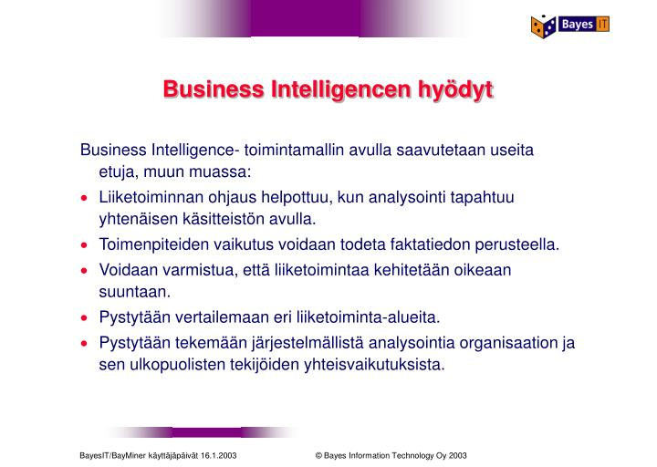 Business Intelligencen hyödyt