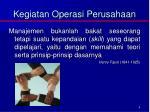 kegiatan operasi perusahaan