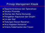 prinsip manajemen klasik