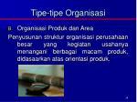 tipe tipe organisasi1