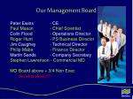 our management board