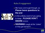 rules if engagement