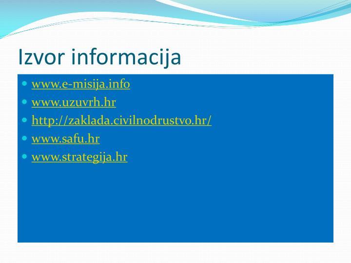 Izvor informacija