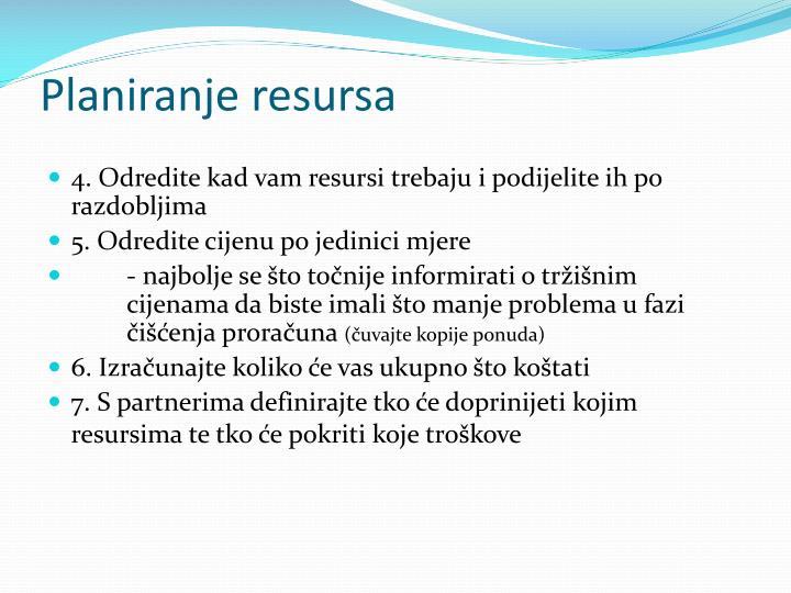 Planiranje resursa