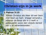 christen zijn in je werk