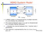 mimo system model