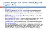 keyword analysis tool keyword density keyword suggestion tools1
