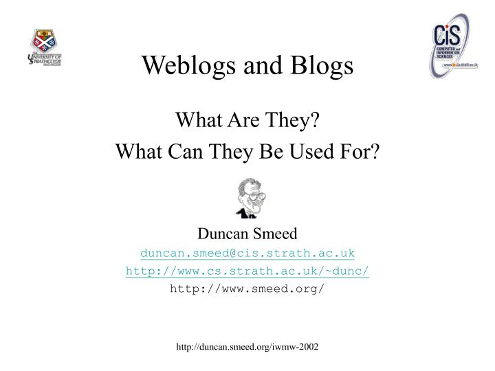 weblogs and blogs n.