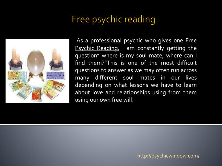 free psychic reading n.