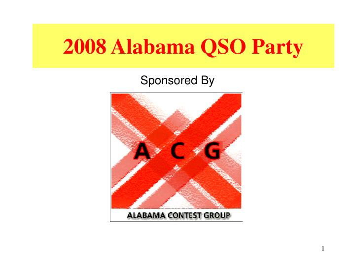 2008 alabama qso party n.