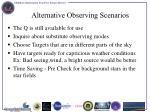 alternative observing scenarios
