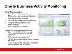 oracle business activity monitoring
