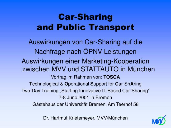 car sharing and public transport n.