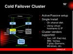 cold failover cluster