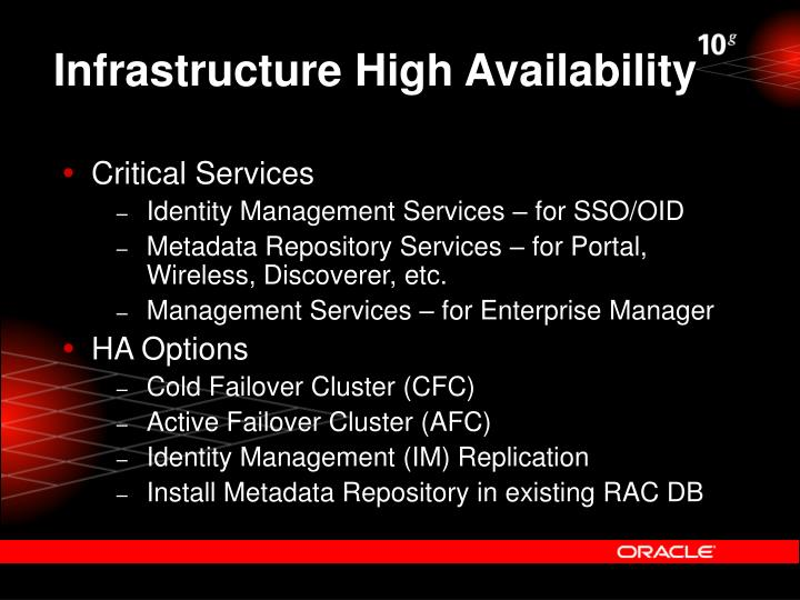 Infrastructure High Availability
