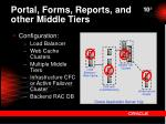 portal forms reports and other middle tiers