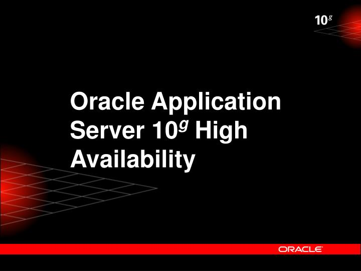 Oracle Application Server 10