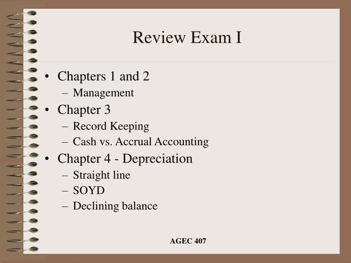 review exam i n.