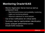 monitoring oracle10 i as