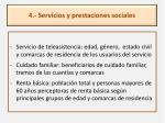 4 servicios y prestaciones sociales