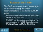 future of igst r d